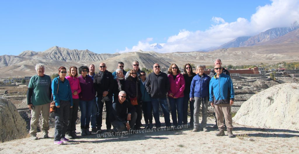 Upper Mustang jeep tour Group