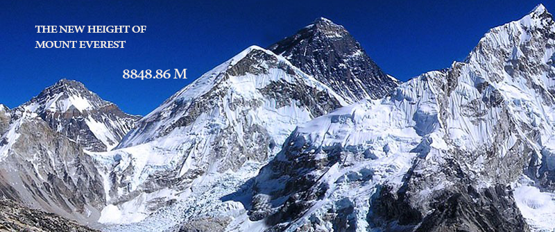 The New Height of Mount Everest 8848.86 meters