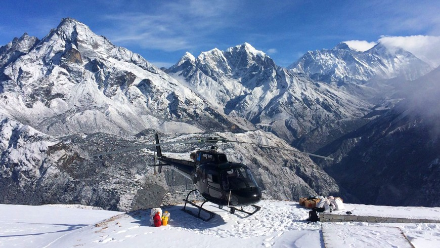 Everest Base Camp Trekking and back helicopter